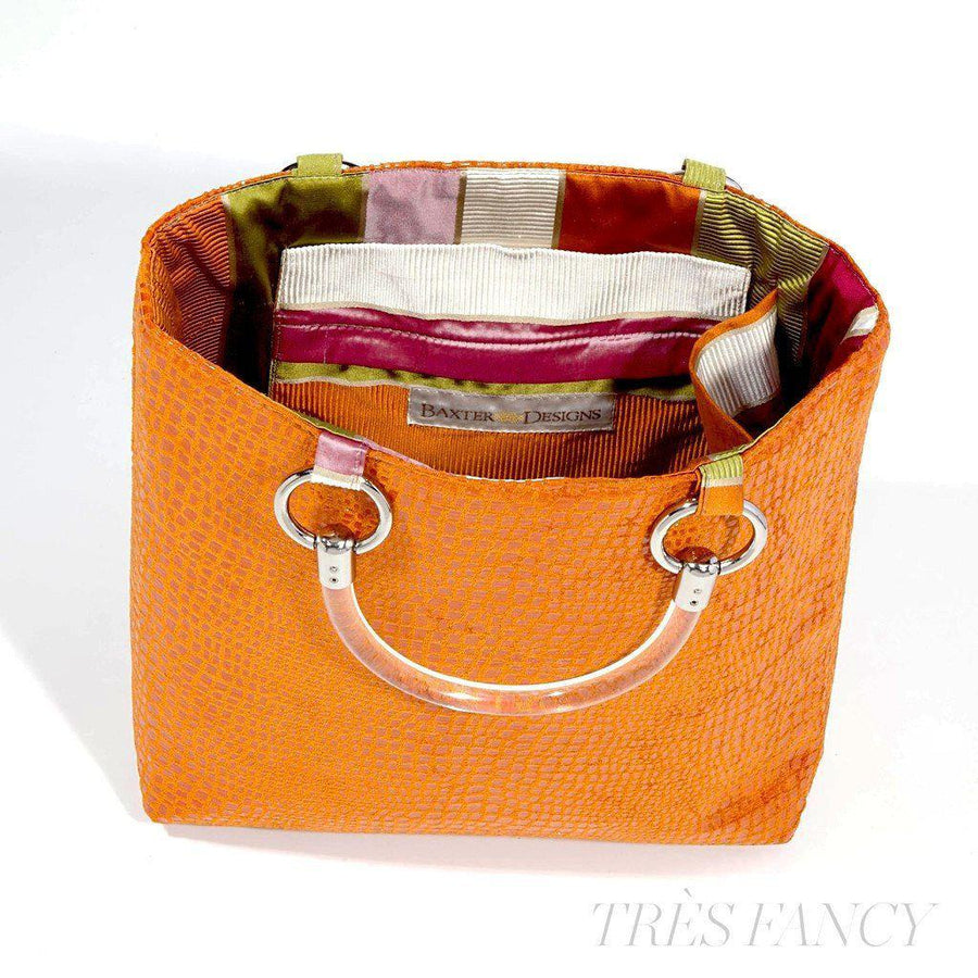 Boa Orange Small Tote-Women - Bags - Totes-Baxter Designs-Très Fancy
