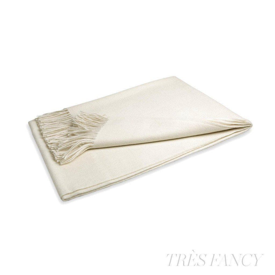 Bone Baby Alpaca Throw-Home - Pillows & Throws-Winterfiber-Très Fancy
