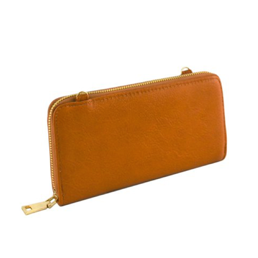 Brown Convertible Wallet-Women - Accessories - Wallets & Small Goods-Le Chic, LLC-TRESFANCY