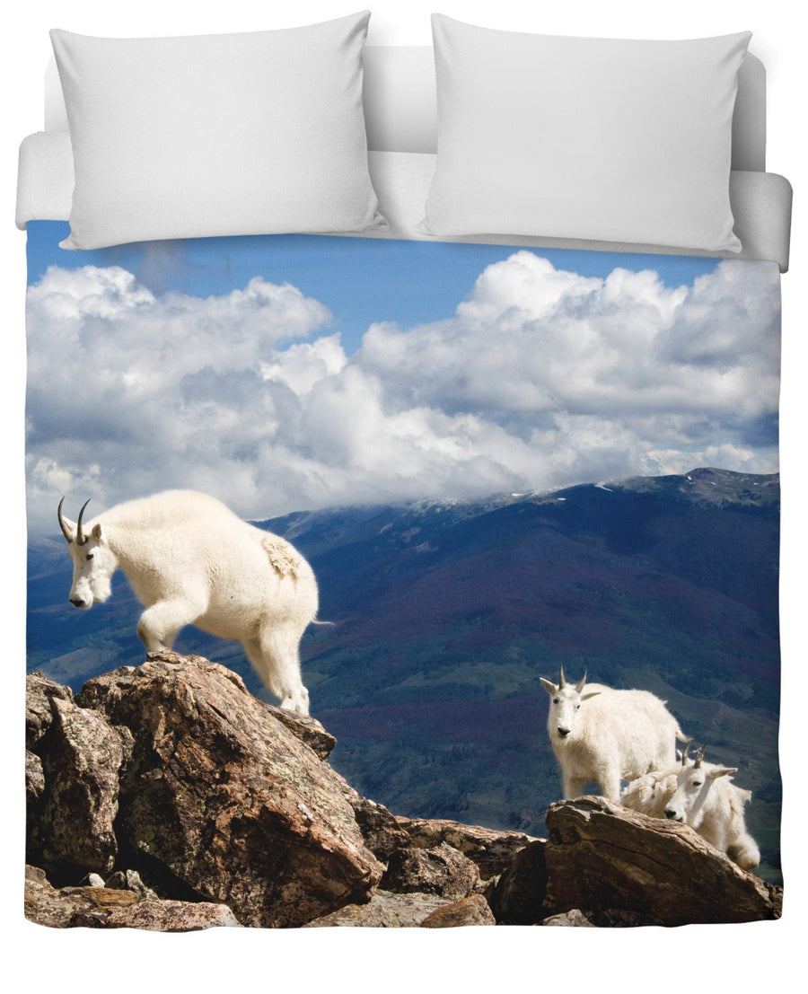Colorado Mountain Goats Duvet Cover-Duvet Covers-FaceGlue-Twin-Très Fancy