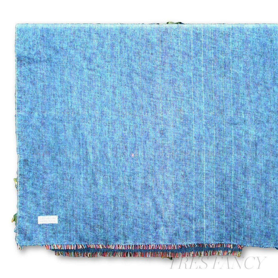 Cabin Measure 100% Alpaca Travel Blanket in Ocean