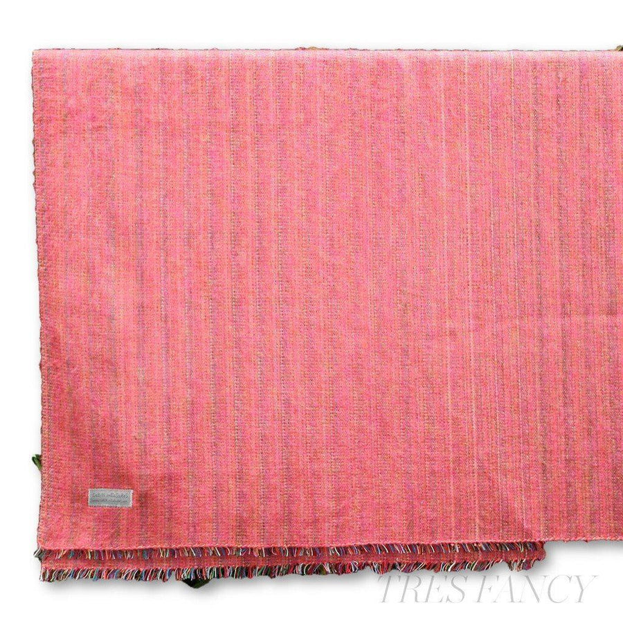 Cabin Measure 100% Alpaca Travel Blanket in Pink