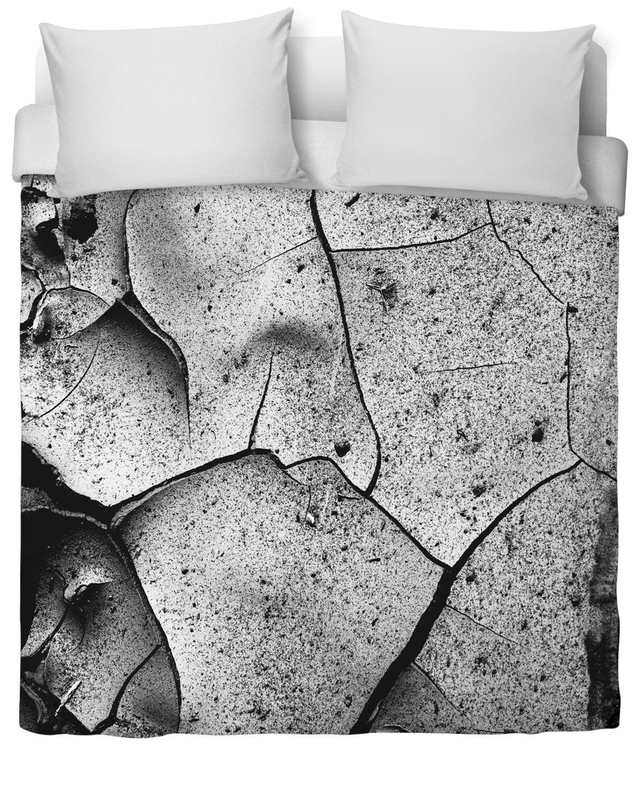 Abstract Cracks Duvet Cover-Duvet Covers-FaceGlue-Twin-Très Fancy