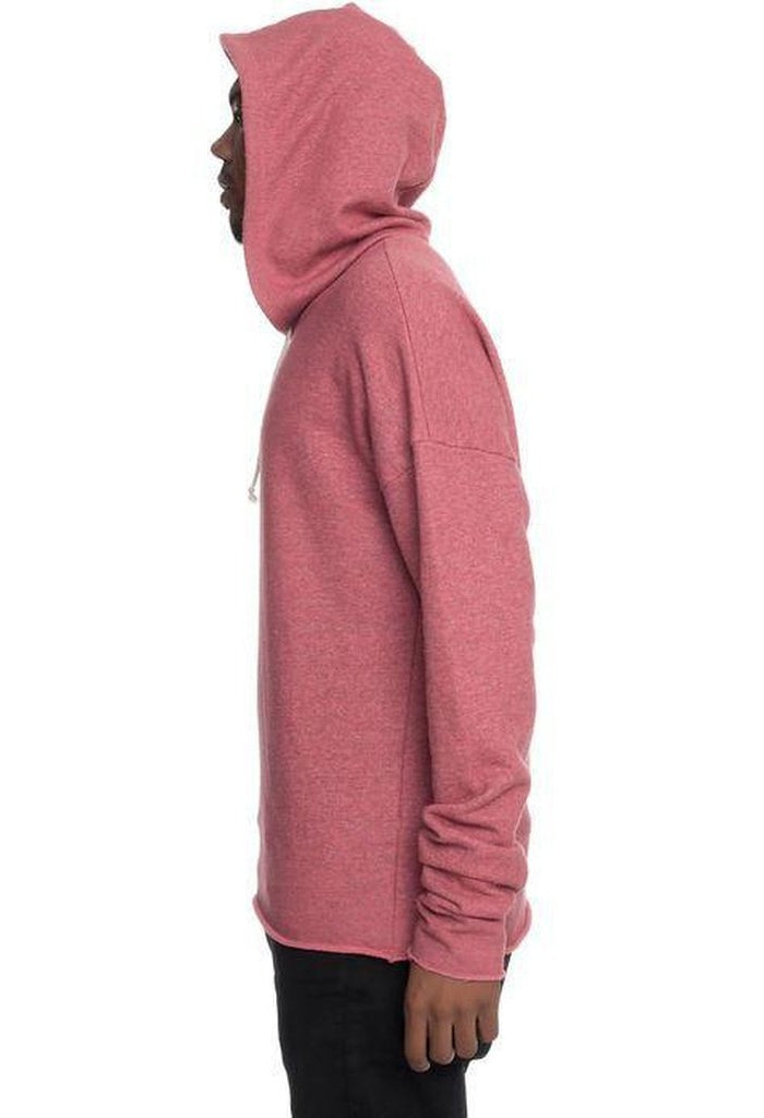 Sergey Drop Shoulder Box Fit Hoodie in Coral Slub