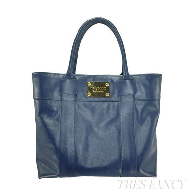 Charlotte Tote - Navy-Women - Bags - Totes-Holly Scott-beige-36-Très Fancy