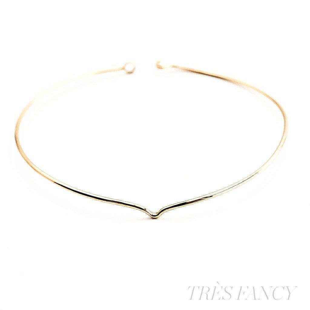Clarity collar gold plated brass necklace-Women - Jewelry - Necklaces-BISJOUX-Très Fancy