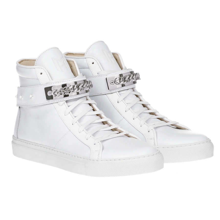CLASSIC HIGH TOP WOMEN | HARLEM | WHITE-Women - Shoes - Sneakers-MARCUS HANUY-Très Fancy