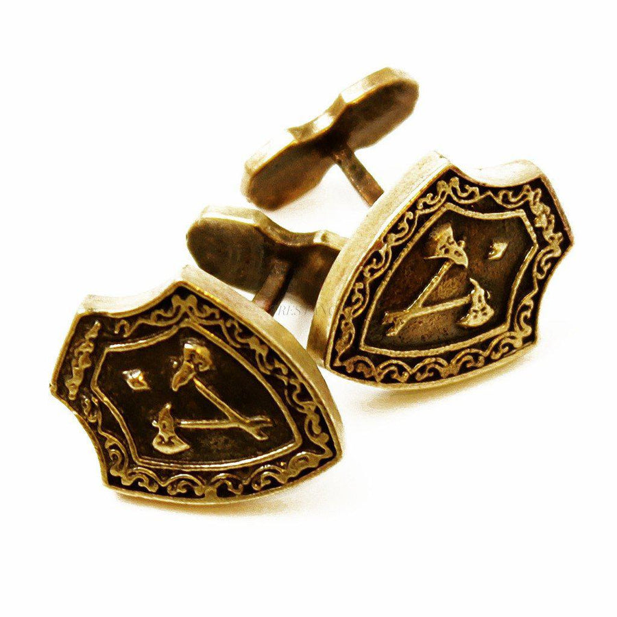 Cufflinks Men Cuff Gift for men-Men - Jewelry - Cuffs-PerePaix-Axe-Très Fancy
