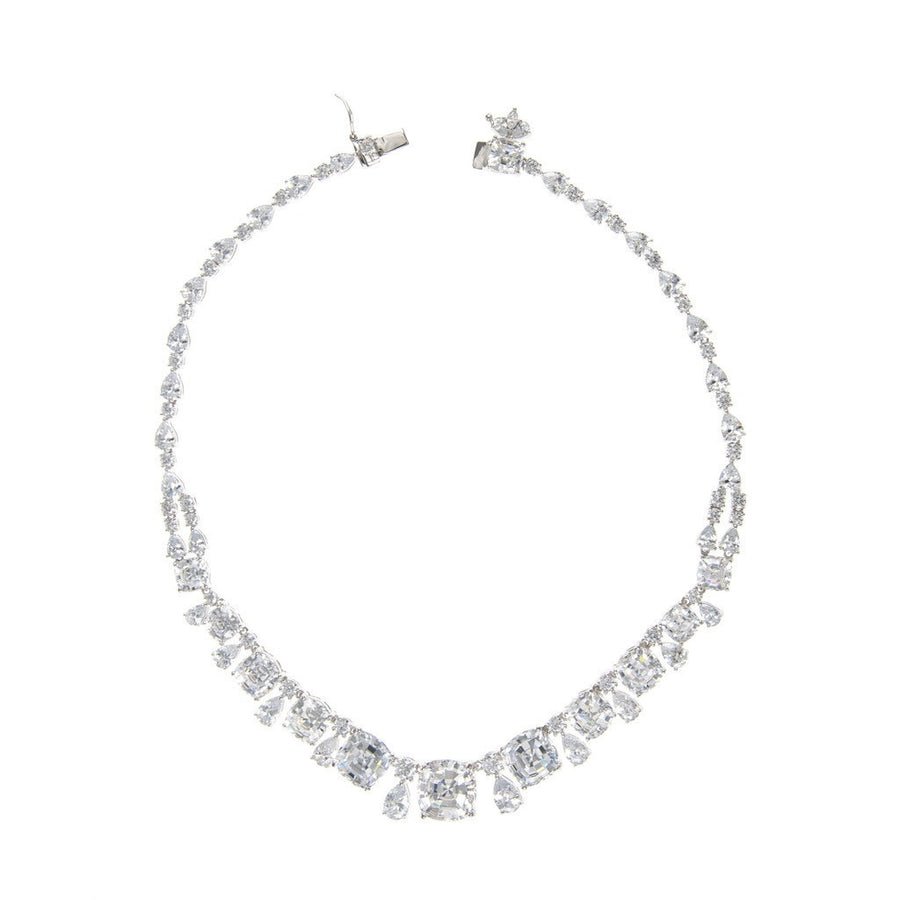 Cushion Cut and Pear Riviere Collar-Women - Jewelry - Necklaces-Sareh Nouri Jewelry-Très Fancy