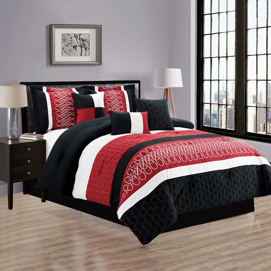 D&B Branson Collection - Luxury 7 Piece Comforter Set