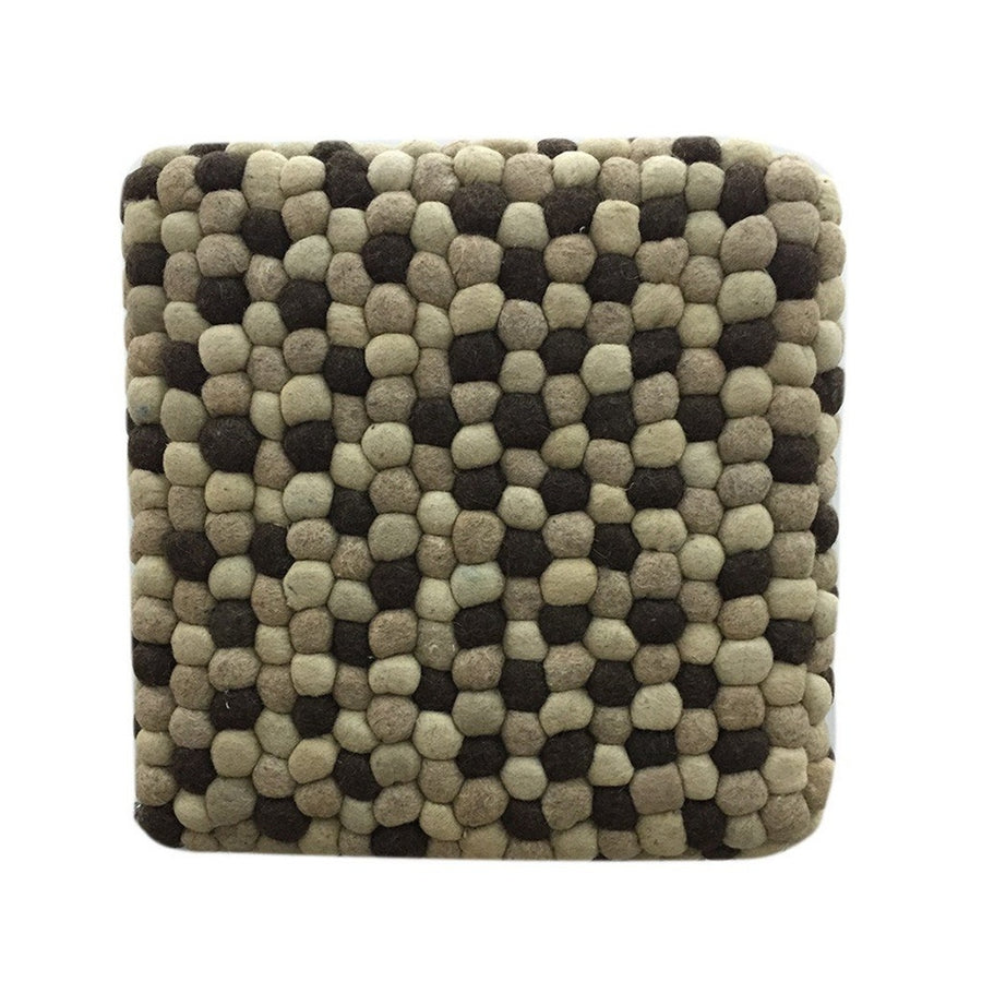 Handmade Woolen Pebble Pouf | Brown Natural | GFURN-Home - Furniture-GFURN Design Furniture-Très Fancy