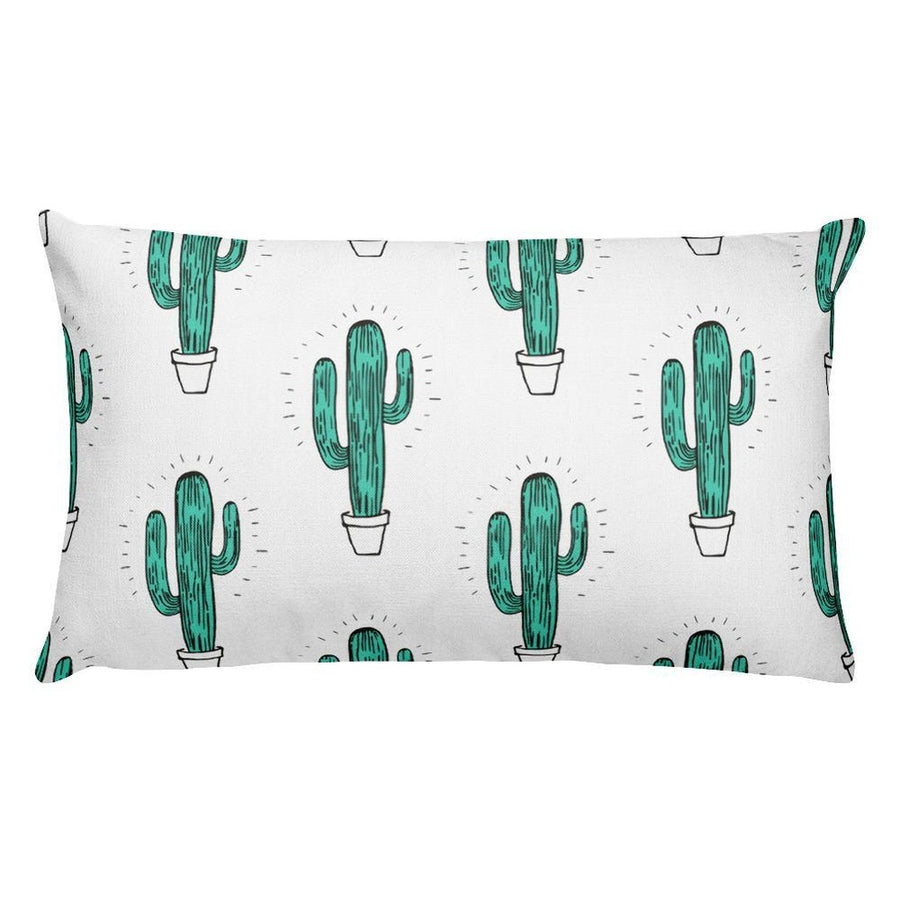 Cactus Rectangular Pillow-Home - Pillows & Throws-Hipster's Wonderland-Très Fancy