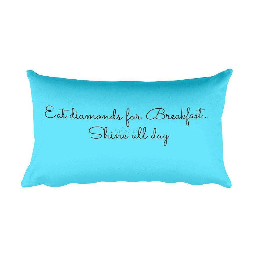 Diamonds for Breakfast Rectangular Pillow-Home - Pillows & Throws-Madison Clothing-Très Fancy