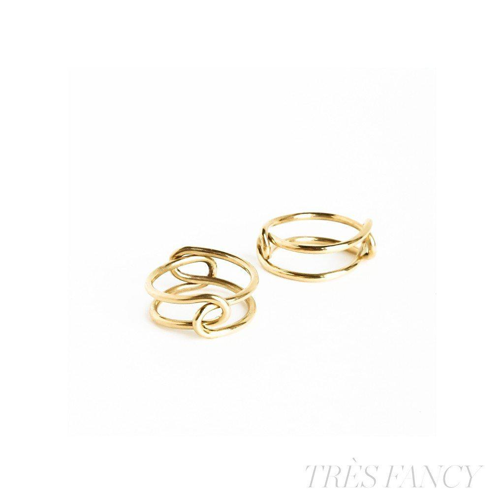 Disconnected Solid brass ring-Women - Jewelry - Rings-BISJOUX-Très Fancy