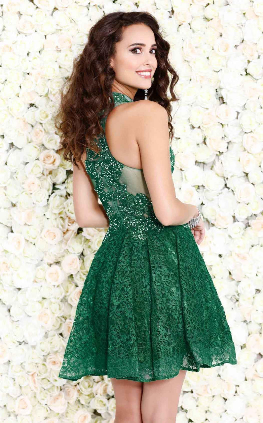 Emerald Shail K Lovely halter-style dress