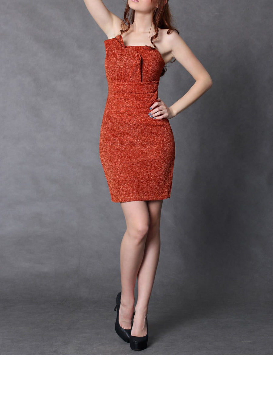 Evening dress 29074 YourNewStyle-Evening Dresses-YourNewStyle-orange-S-Très Fancy