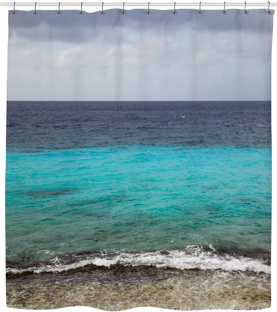 Caribbean Reef Shower Curtain-Shower Curtains-FaceGlue-One Size-Très Fancy