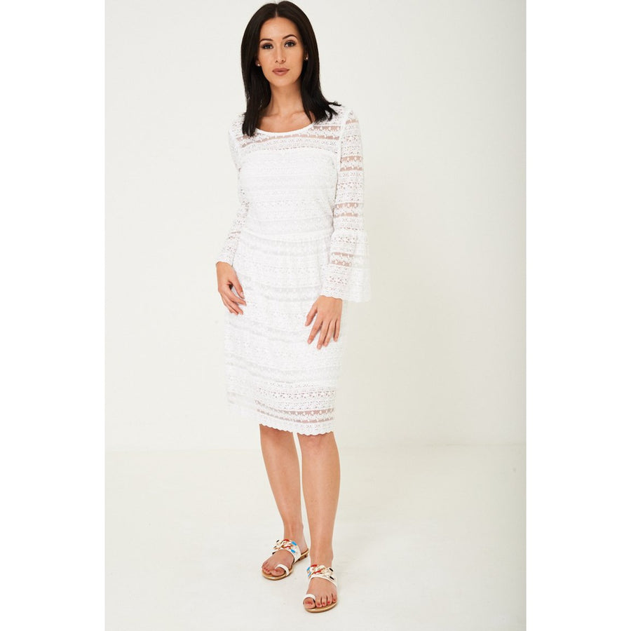 Lace Midi Dress Ex Brand