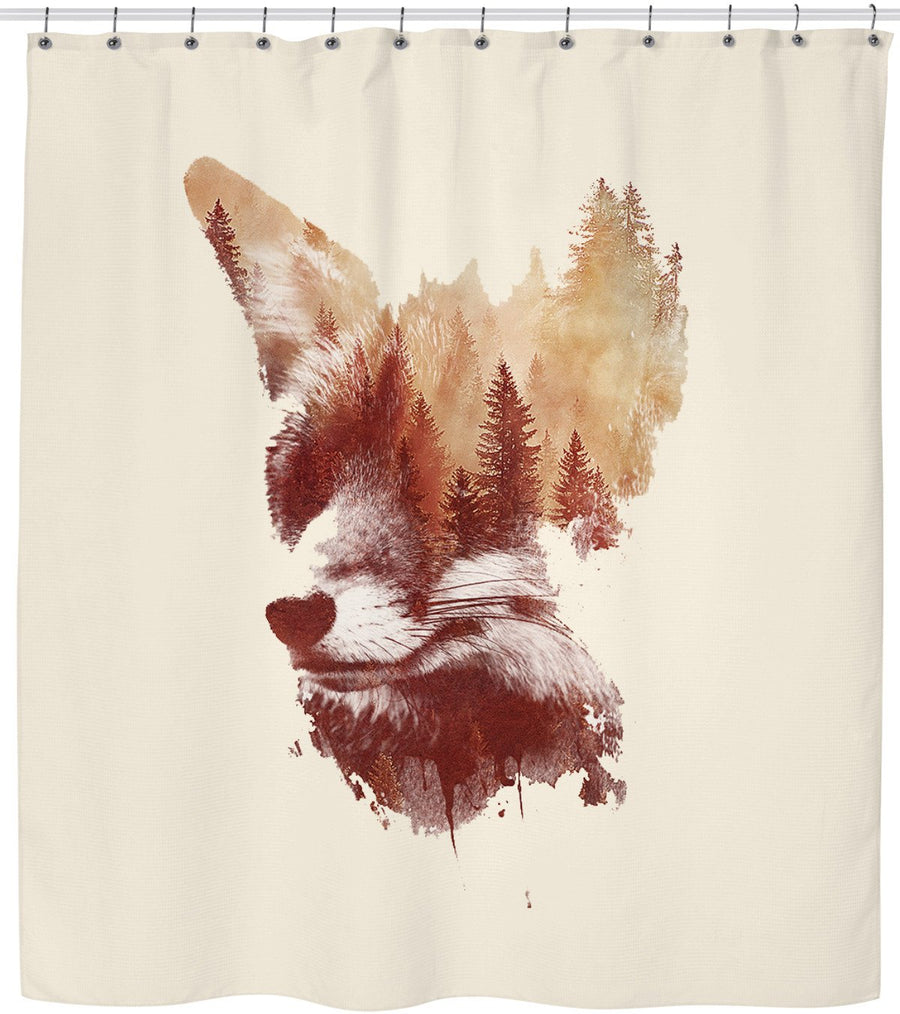 Blind fox-Shower Curtains-Astronaut-One Size-Très Fancy