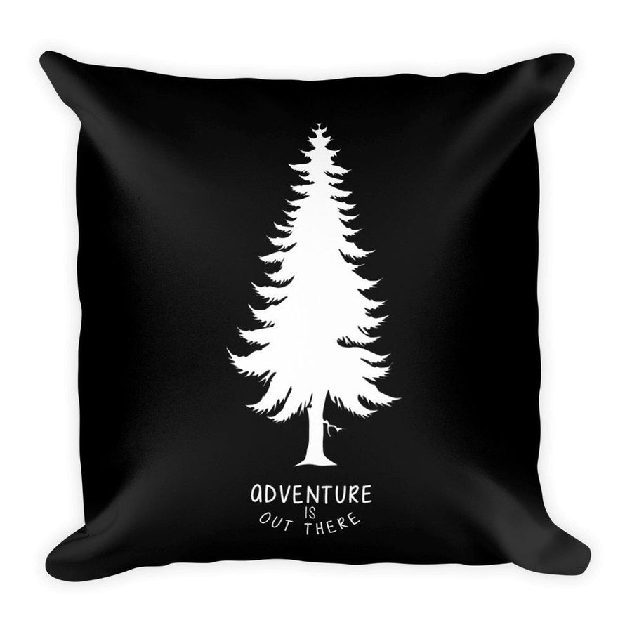 Adventure is out there (White) Square Pillow-Home - Pillows & Throws-Hipster's Wonderland-Très Fancy