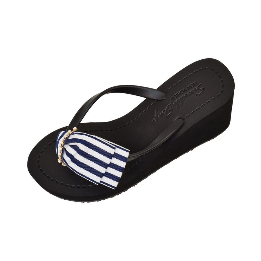 Marine Park - High Wedge-Women - Shoes - Sandals-Sand by Saya New York-Black-10XL-Très Fancy