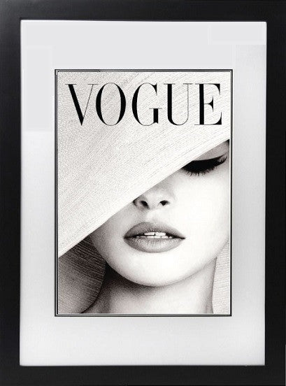 Framed Vogue Cover-Home - Decor - Posters & Prints-DUKE n co-White-Large-Très Fancy