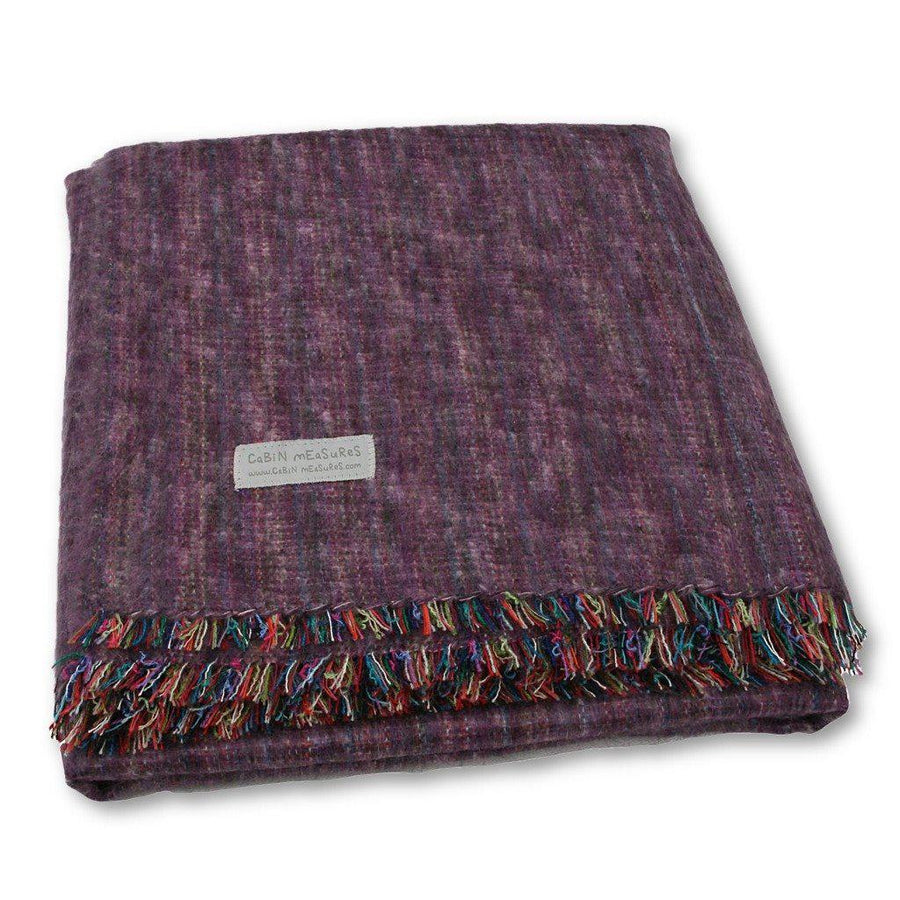 Full Blanket in Heather Purple