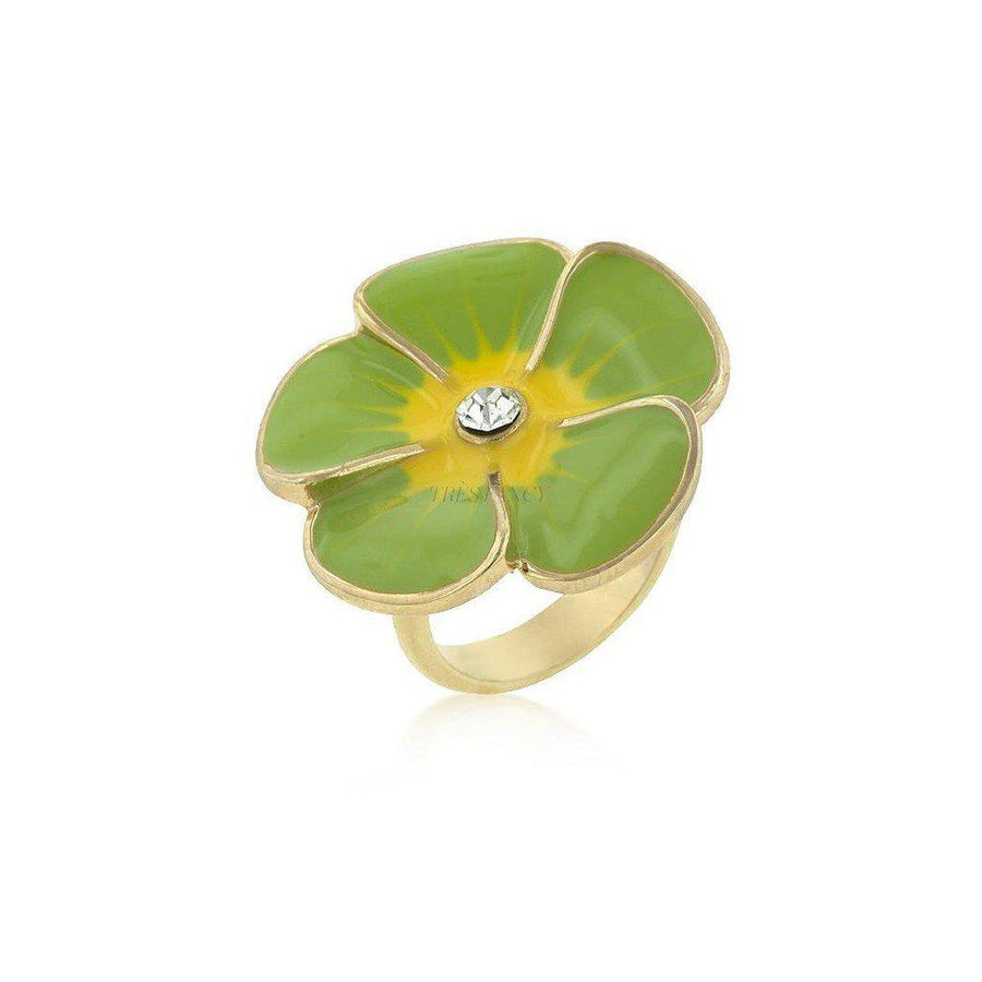 Green Fleur-Women - Jewelry - Rings-Le Chic, LLC-Très Fancy