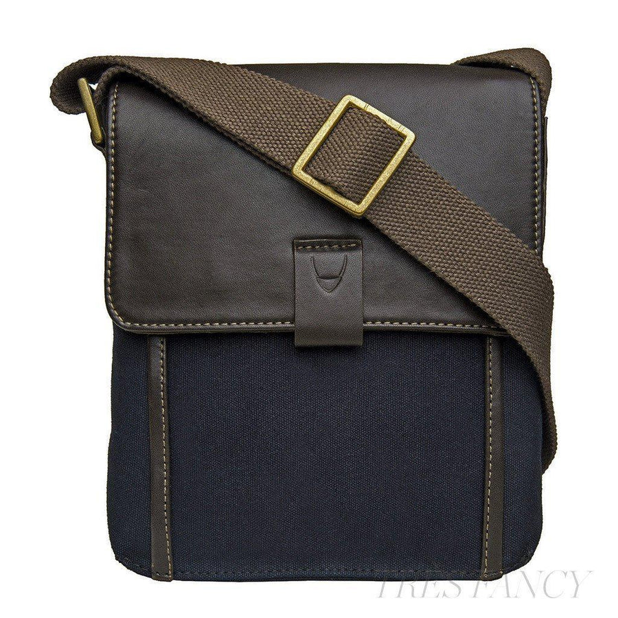 Hidesign Aiden Small Canvas Leather Cross Body-Men - Bags - Crossbody-Hidesign-TRESFANCY