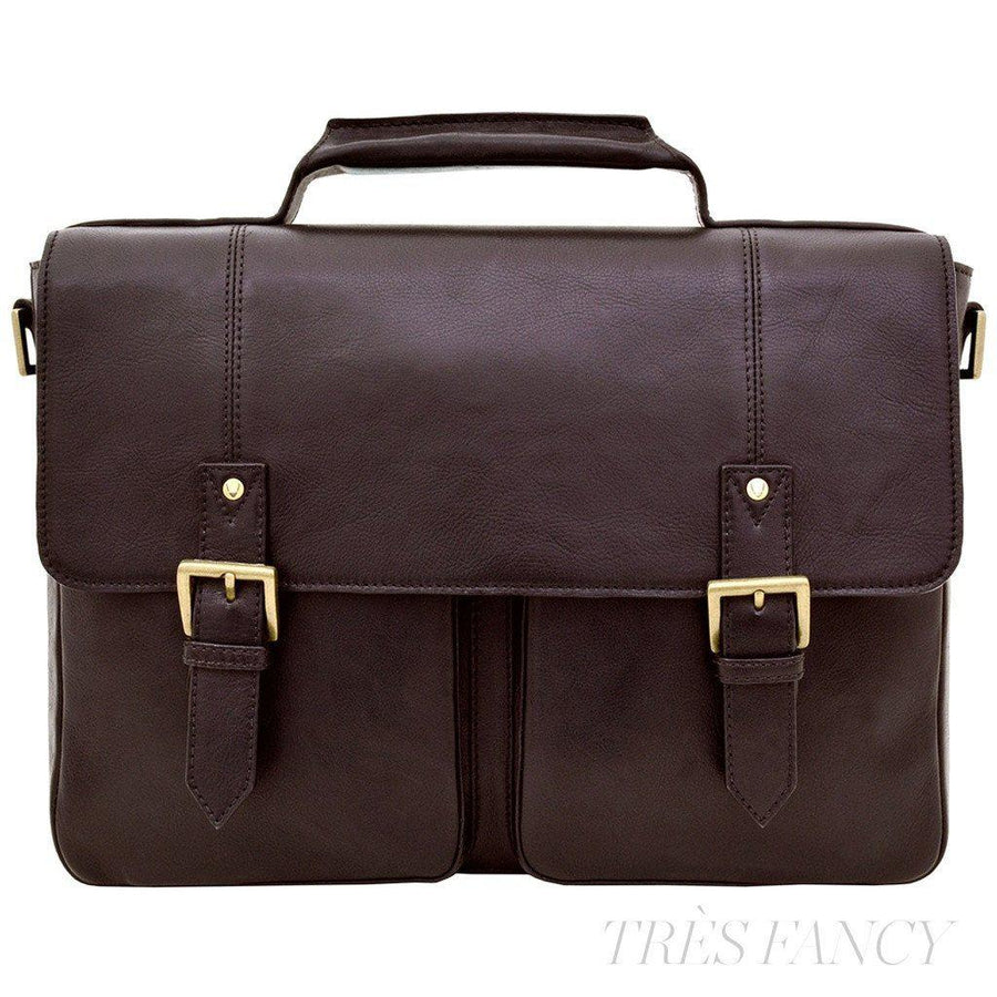 "Hidesign Charles Leather 15"" Laptop Compatible Briefcase Work Bag-Men - Bags - Briefcases-Hidesign-TRESFANCY"