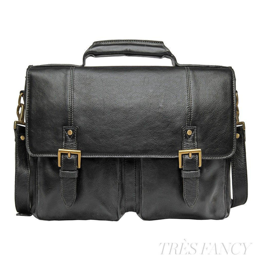 "Hidesign Charles Leather 17"" Laptop Compatible Briefcase Work Bag-Men - Bags - Briefcases-Hidesign-TRESFANCY"