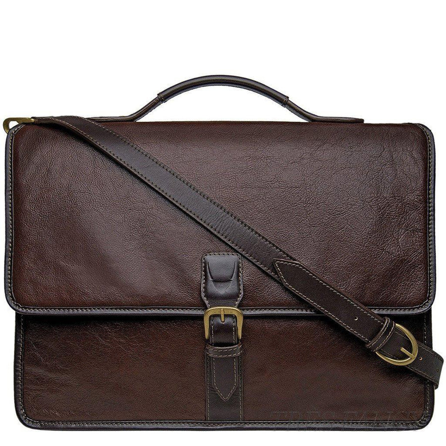 Hidesign Harrison Buffalo Leather Laptop Briefcase-Men - Bags - Briefcases-Hidesign-TRESFANCY