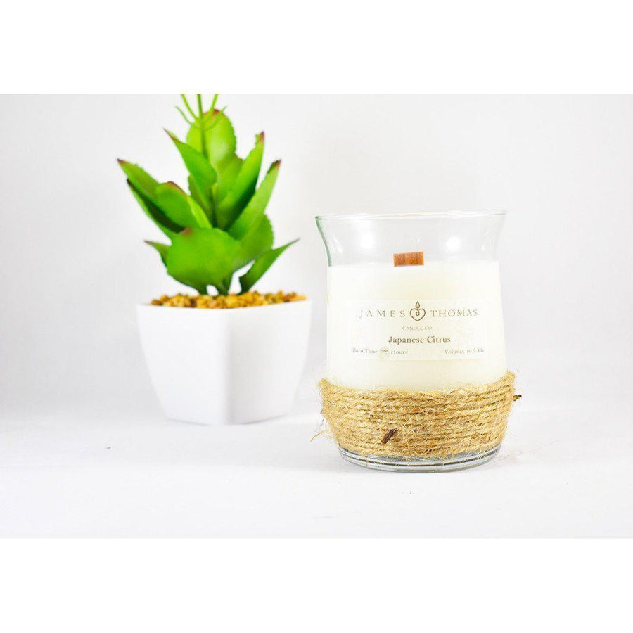 Japanese Citrus Wooden Wick Candle-Home - Candles-James Thomas Candle Co-Très Elite