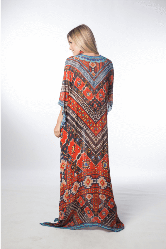 Lace Up Long Kaftans LLP314-Women - Apparel - Kaftans-Embellished Kaftans-Très Fancy