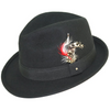 Levine Hat 9th Street Verve Wool Fedora-Men - Accessories - Hats-Levine Hat Company-BLACK-M-TRESFANCY