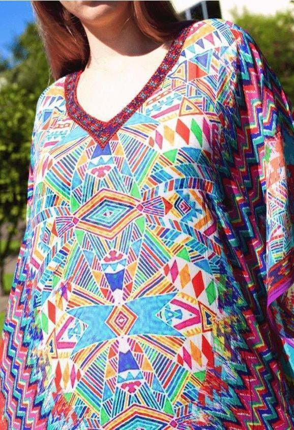 Long Kaftans VCLV318 - NON-SHEER-Women - Apparel - Kaftans-Embellished Kaftans-Très Fancy