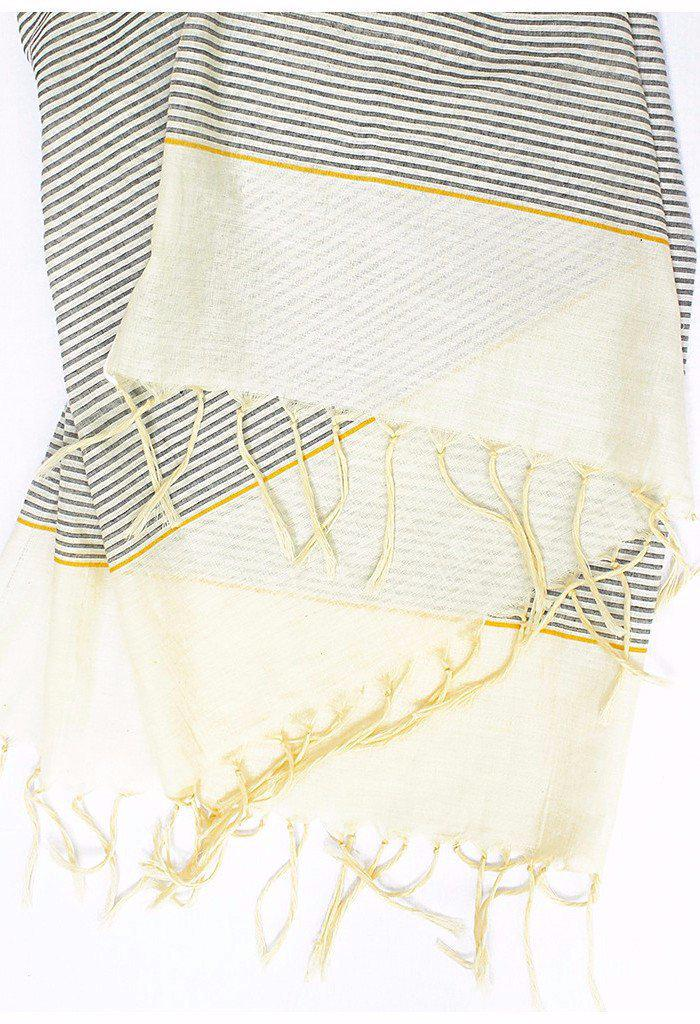 Metallic Stripe Scarves