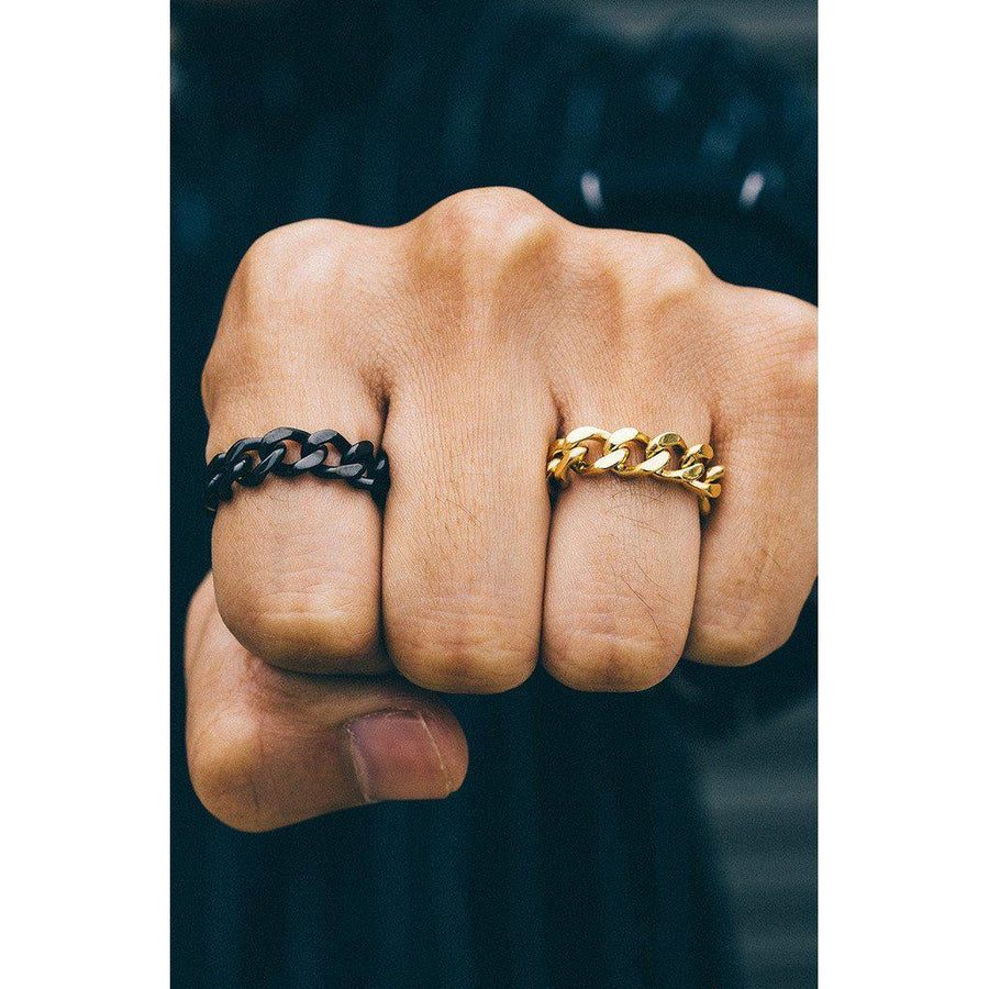 Mister LLC-Mister Curb Ring - Black-Men - Jewelry - Rings-Très Fancy - Duty Free Canada, Worldwide shipping