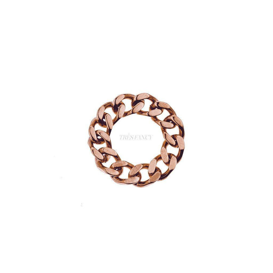 Mister LLC-Mister Curb Ring - Rose Gold-Men - Jewelry - Rings-Très Fancy - Duty Free Canada, Worldwide shipping
