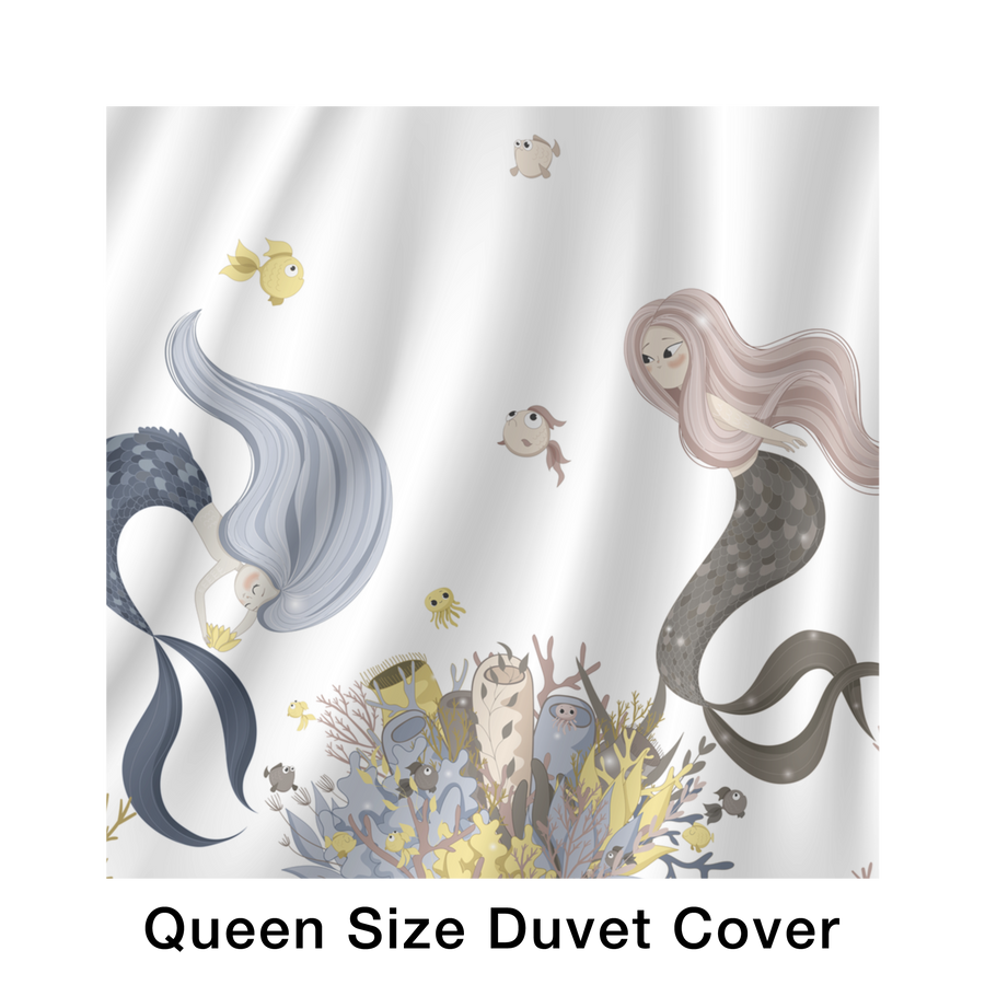 Mermaid bed in a bag Duvet Cover sets-Bedroom Set-teelaunch-Queen-Très Fancy