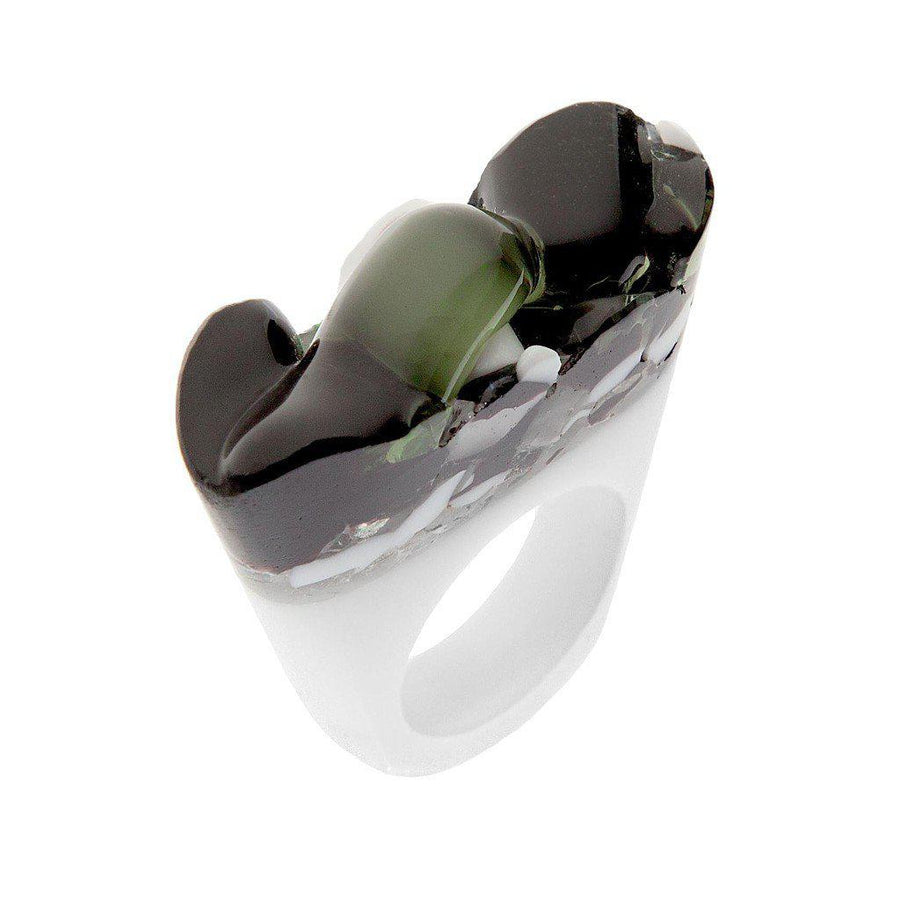 Murano Ring - B&W - Cholera