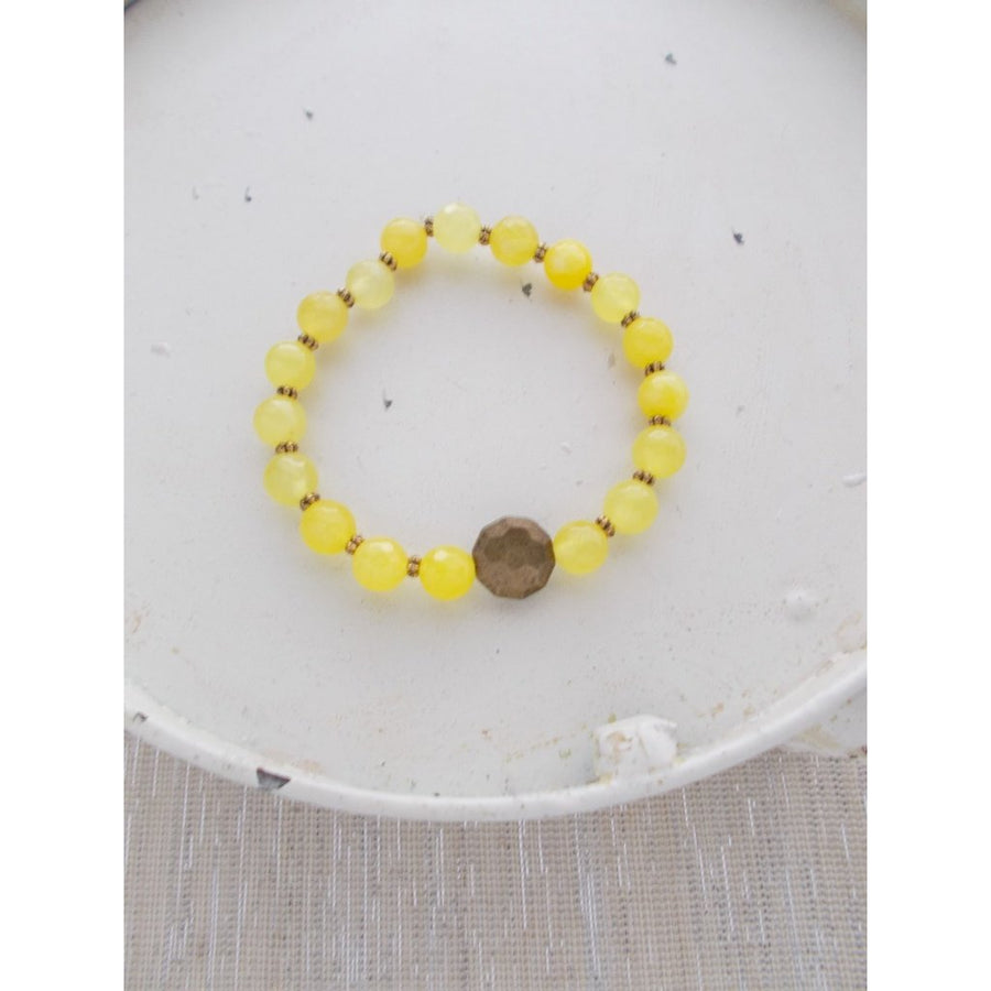 (No. 8631JB.h) - Demi Bracelet in Yellow-Women - Jewelry - Bracelets-The Katz Meow Creations-Très Fancy