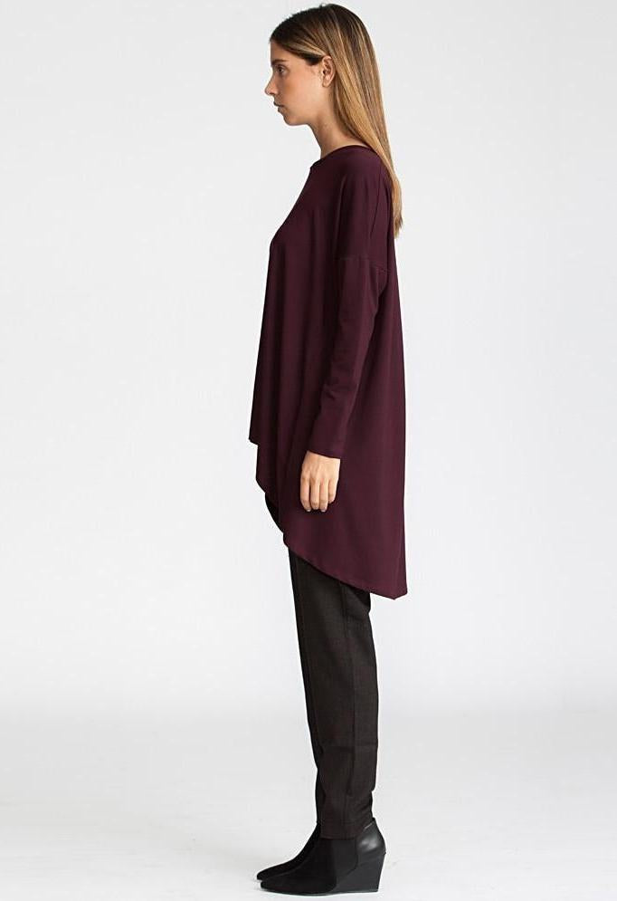 Oversized tunic, Bordo red-Women - Apparel - Shirts - Tunics-Andy Ve Eirn-TRESFANCY