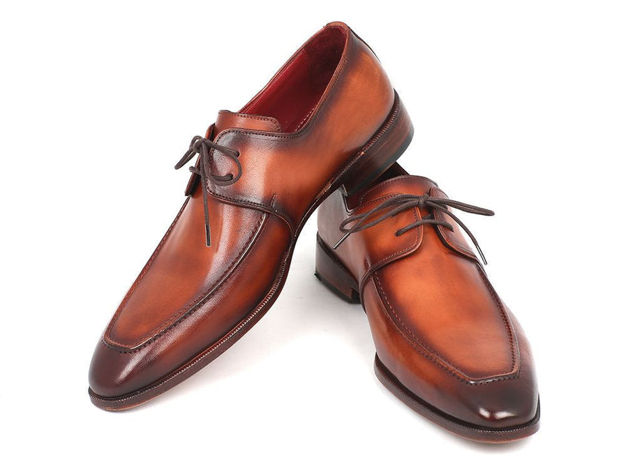 Paul Parkman Brown Leather Apron Derby Shoes For Men (ID#33SX92), Men - Footwear - Shoes - Derby, Paul Parkman's Shoes, Très Fancy, '--, Genuine Leather, Brown, , 33SX92, [fashion_accessories_online_shopping_canada]