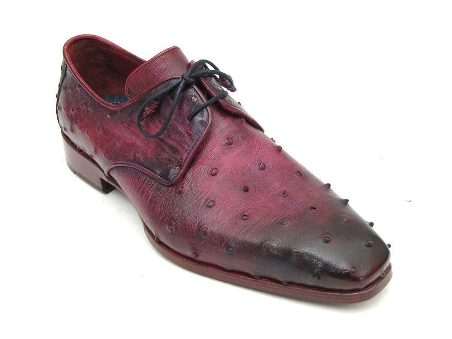 Paul Parkman Lilac Genuine Ostrich Derby Shoes (ID#66CC44), Men - Footwear - Shoes - Derby, Paul Parkman's Shoes, Très Fancy, '--, Genuine Ostrich Leather, Lilac, , 66CC44, [fashion_accessories_online_shopping_canada]