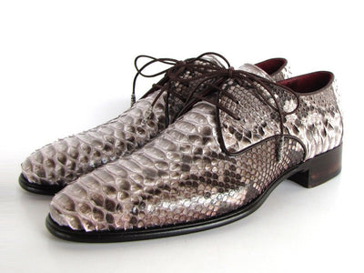 Paul Parkman Mens Natural Genuine Python (snakeskin) Derby Shoes (ID#0787SNK)-Men - Footwear - Shoes - Derby-Paul Parkman's Shoes-TRESFANCY