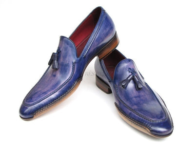 Paul Parkman Mens Side Handsewn Tassel Loafer Blue & Purple (ID#082-BLU-PURP)-Men - Footwear - Shoes - Loafers-Paul Parkman's Shoes-'-Genuine Leather-Blue & Purple-TRESFANCY