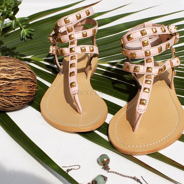 Persefone Green Sandal-Women - Shoes - Sandals-Artemisia-36-TRESFANCY