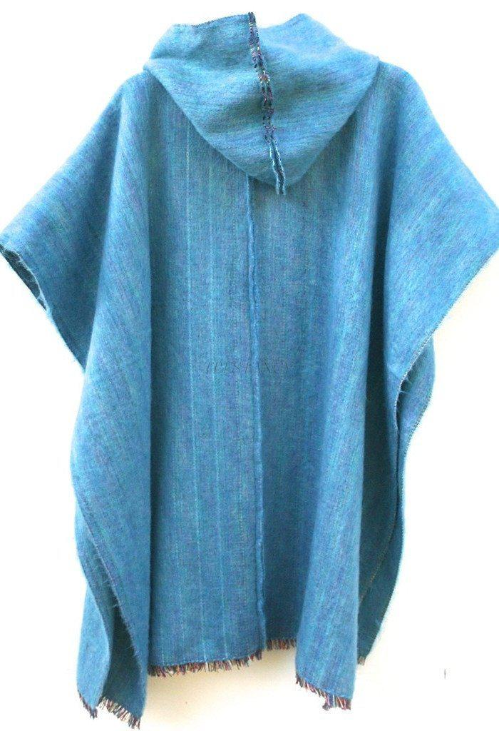 Poncho in Turquoise