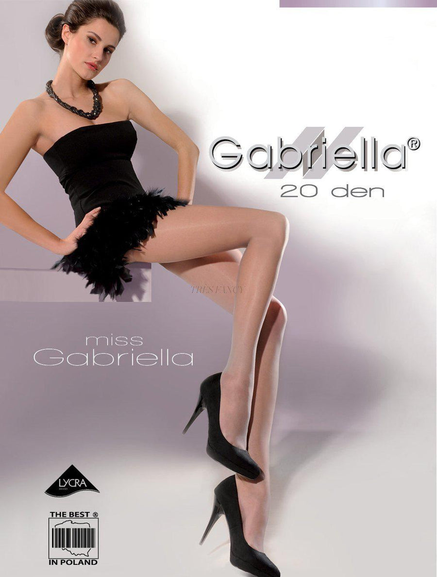 Rajstopy Miss Gabriella 20 DEN code 105 - Gabriella, Hosiery & Legwear, Stockings and Tights for Women, Gabriella, Très Fancy, beige L, , , , 12014, [fashion_accessories_online_shopping_canada]